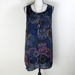 Blu Pepper Black Sleeveless Tunic Dress Size L
